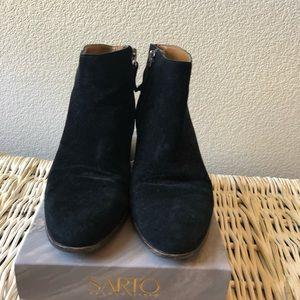 Franco Sarto Black Suede Booties